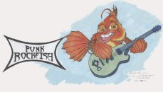 punk rockfish character